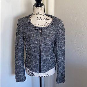 Maison Scotch Tweed Metallic Jacket